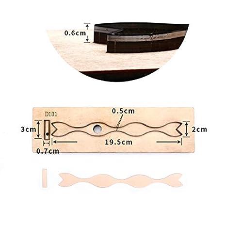 Molde de acero japonés para cortar cuero.: Amazon.es: Juguetes y ...