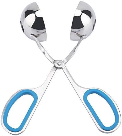ミートボールメーカークリップ、ステンレス鋼非粘着性簡単ミートボールおにぎりクリップメーカー金型キッチンツール(青)