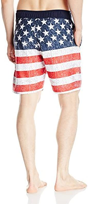 Balboa Mens American Flag Swim Trunk