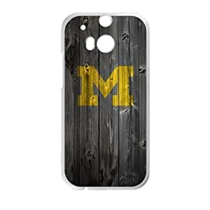 Forever Collectibles NCAA Wood Pattern Delicate HTC One M8 Custom Logo Case Great shield High Quality Logo Case