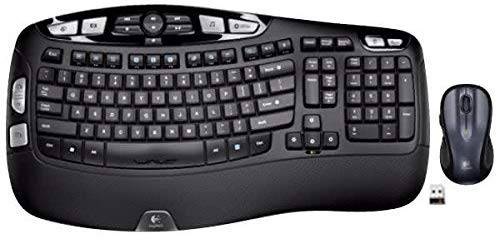 Logitech MK550 Wireless Wave Keyboard and Mouse Combo - Includes Keyboard and Mouse, Long Battery Life, Ergonomic Wave Design with Wireless Mouse (with Mouse)