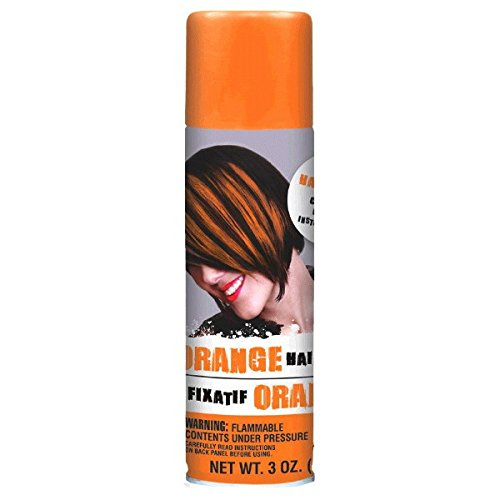 pirit Colored Hair Spray Accessory, Orange, Non-Damaging, 3 Ounces (Orange Team Color)