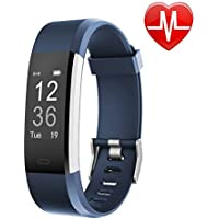 Letsfit Fitness Activity Tracker Watch with Heart Rate Monitor for Smart Phone only for Kids Women Men