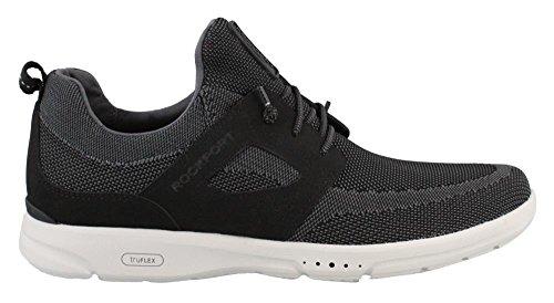 Mesh Leather Tie - Rockport Men's Truflex Mesh Tie Sneaker Black Mesh 11 Medium