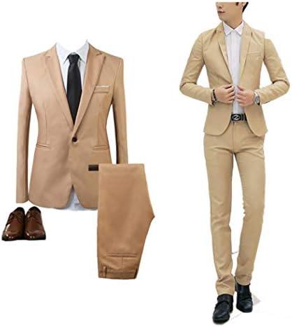 スーツ メンズ セットアップ ジャケット 1つボタン ズボン トゥーピース 上下セット 2点セット ビジネススーツ 無地 シンプル 薄手 派手 ジャケット ビジネス パーティー 結婚式