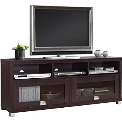 Superieur Espresso TV Cabinet For TVs Up To 65 Inches With 2 Glass Doors With Storage  Space