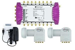 Opticum OMS 9/16 multi-switch (2 Quattro LNB, Satélite 2, máx: 16 participantes)