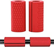 Barbell Grips Gym Weight Bar Grips Anti-Slip Rubber Grips For Weightlifting-Dumbbell Handles Stress Relief Han
