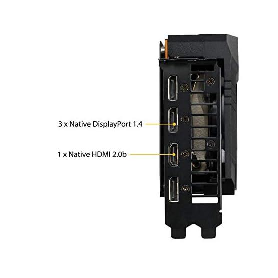 ASUS TUF Gaming 3 AMD Radeon RX 5600XT OC Edition Gaming Graphics Card (PCIEe 4.0, 6GB, GDDR6, HDMI, DisplayPort, 1080p… 41H7KL0t17L. SS555