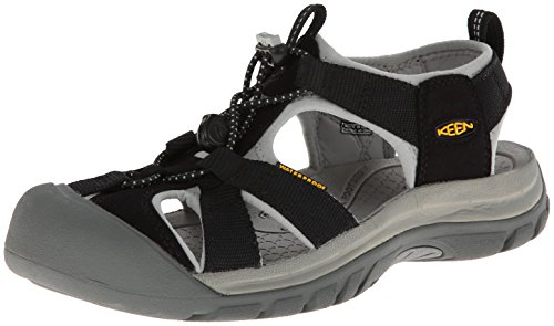KEEN Women's Venice H2 Sandal,Black/Neutral Gray,7.5 M US