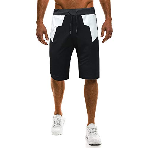 Benficial New Men's Shorts Summer Casual Sport Shorts for Men Knee Pleated Waist Pants White