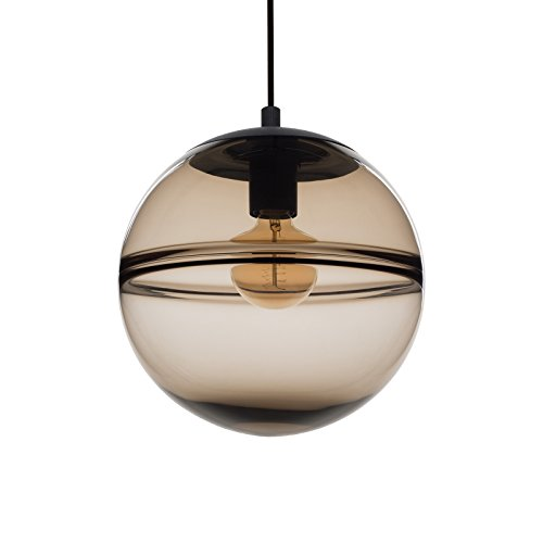 Unique Pendant Lighting Fixtures. CASAMOTION Unique Optic Contemporary Hand Blown Glass Pendant Light  Ceiling Hanging Lighting Fixtures Brown Amazon com