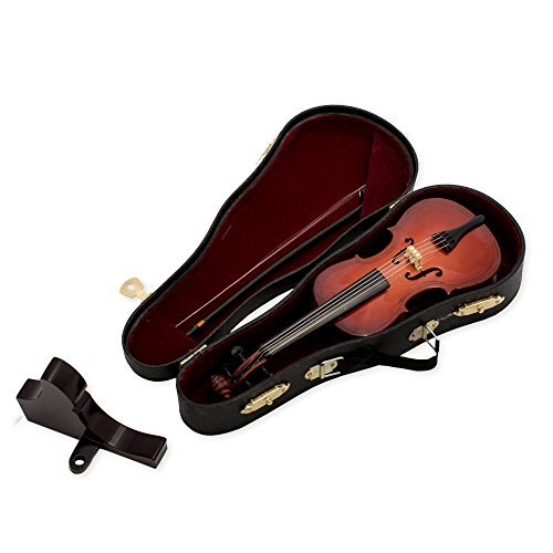 Cello Instrument Miniature Replica Box Plays Tune Canon in D ()
