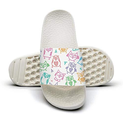 qiopw rtw Bathroom Shower Non-Slip Sandal Funny owl Species Indoor Slipper Shoes Women's