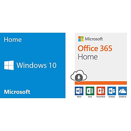 Ms Office Bundle - Microsoft Windows 10 Home 32 Bit System Builder OEM | PC Disc + Microsoft Office 365 Home | 12-month subscription, up to 6 people, PC/Mac Download  Bundle