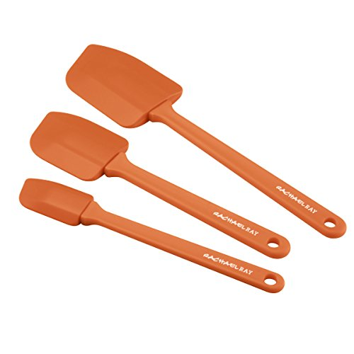Rachael Ray Kitchen Tools & Gadgets Lil' Devils 3-Piece Silicone Spoonula Set, Orange