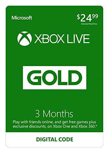 Xbox Live 3 Month Gold Membership - Digital - Xbox One Live Email