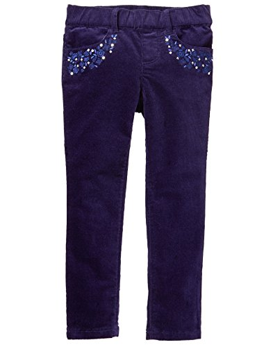 - Gymboree Little Girls' Printed Cord Pant, Navy, 6