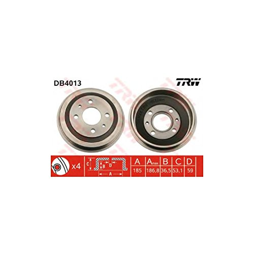 TRW DB4013 Brake Drums: