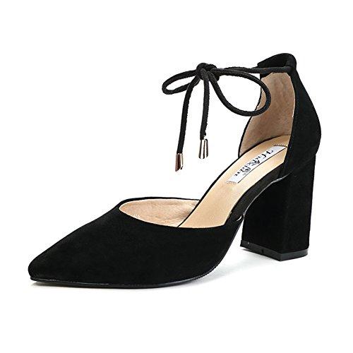 Tip Bindung Sandalen,Frauen High Heels,Hohle Bandage mit Leder Spitze Schuhe-B Fußlänge=24.3CM(9.6Inch)