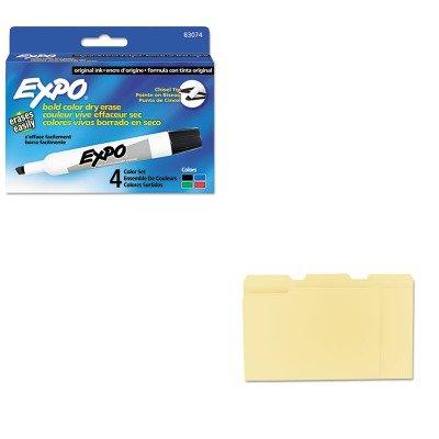 KITSAN83074UNV12113 - Value Kit - Expo Dry Erase Markers (SAN83074) and Universal File Folders (UNV12113)