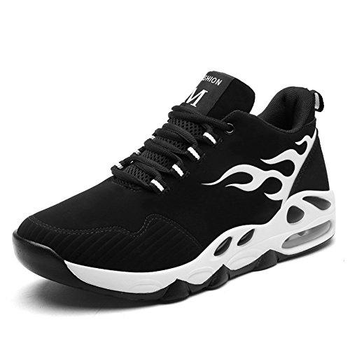 垂直実施するスリップシューズBETY?メンズファイティングバスケットボールカジュアルワイパースポーツシューズタイドシューズフィットネスシューズアウトドアシューズ、39-44EU、ブラックイエロー/ブラックブルー/ブラックホワイト/ブラックレッド