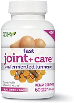Genuine Health Fast Joint Care with Turmeric and Eggshell Membrane, Natural Pain Relief, 60 Capsules