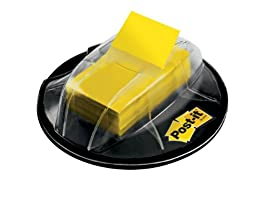 Post-it Flags, Yellow, 1-Inch wide, 200/Desk Grip Dispenser (680-HVYW)