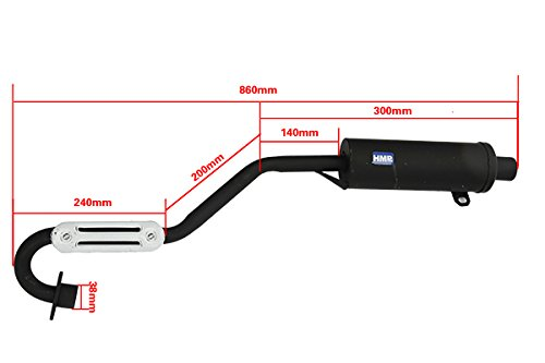 La Chine HMParts ATV Quad Shin Eray Bashan Type de pot d/échappement /échappement 250/cm3/99
