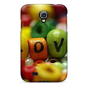 Case Cover, Fashionable Galaxy S4 Case - Colorful Love