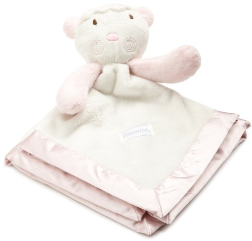 Vitamins Baby-girls Newborn Lamb Satin Trim Superplush Blankie Buddy