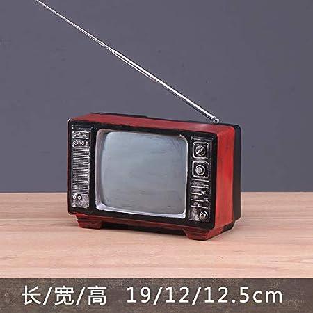 ZSWshop Nostalgia Creativa, antigüedad, Modelo de Radio de la televisión de los años 60, Disparos, diseño de Adornos de utilería, TV carmesí: Amazon.es: Hogar
