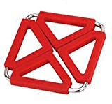 Battletter European Style Creative Folding High Heat Resistant Placemats Teacup Coasters (red)