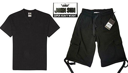 Johnson John Son Men's Super Heavy Weight V-Neck T-Shirt ...