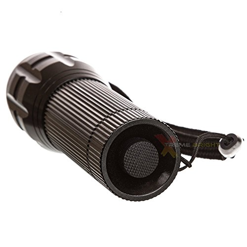 Xtreme Bright LED Bike Light Chrome with FREE TAILLIGHT - Great For Children's Bicycles - No Tools Needed Attaches in Seconds - 100% Through Triumph Innovations (Slate Black)