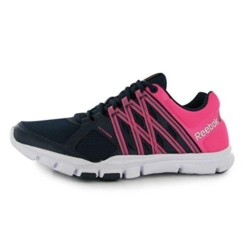 Reebok YOURFLEX Turnschuhe Damen Navy/Pink Sneakers Sport Schuhe Schuhe