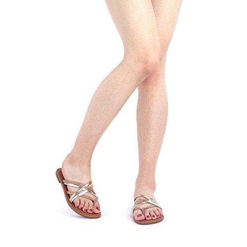 Sandals 01 Thong Design DREAM Flat Crossover PAIRS Slides multi Slipp 01 Women's Fashion 4YxvnOFx