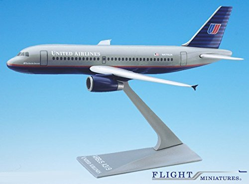 United (93-04) Airbus A319-100 Airplane Miniature Model Plastic Snap-Fit 1:200 Part#AAB-31900H-002 (Flight Miniatures Snap)