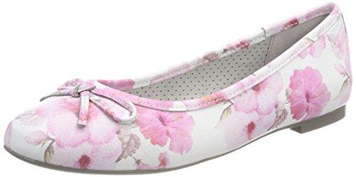 Be Natural Damen 22141 Geschlossene Ballerinas Pink (Rose Flower)