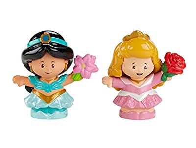Fisher-Price Little People Disney Princess, Jasmine & Aurora Figures, Multicolor