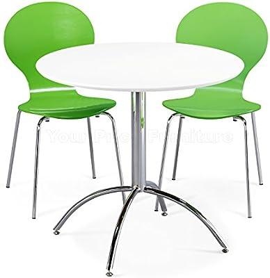 Your Price Furniture Kimberley Juego de Comedor Mesa Blanca y 2 ...