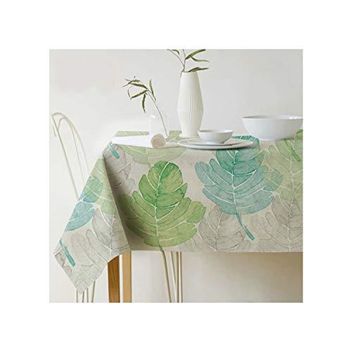 Cheryl Norri Plantas pano de Tabla Rectangular Pastoral Estilo Tropical Impreso Mantel decoracion del hogar Comedor Elegante Cubierta de Ropa de Mesa, 4,140X200Cm