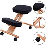 Costway Ergonomic Kneeling Chair Wooden Orthopaedic Stool Posture Frame Seat Health Care