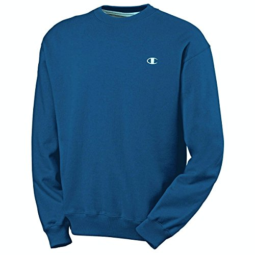 - Champion Men's Big & Tall Fleece Crewneck Pullover Sweatshirt (3XL, Hotline Blue)