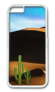 MOKSHOP Adorable Desert Travel Hard Case Protective Shell Cell Phone Cover For Apple Iphone 6 Plus (5.5 Inch) - PC Transparent