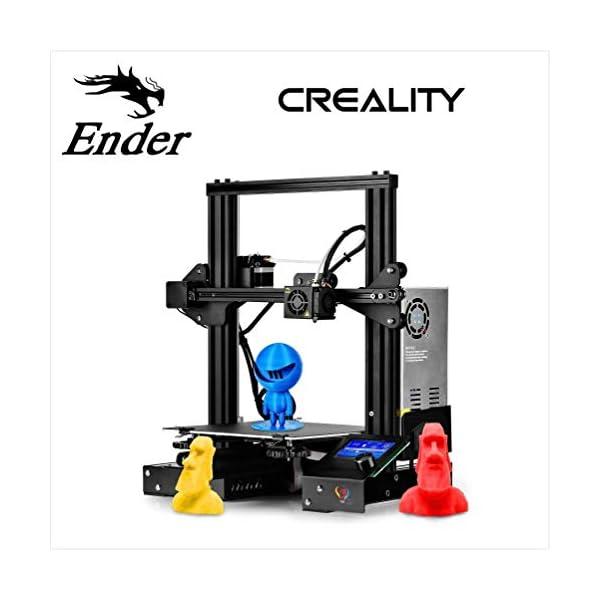 3IDEA Creality DIY Kit 3D Printer, Resume Printing V-Slot Prusa i3, Build Volume 220 x 220 x 250 mm, for Home and School Use