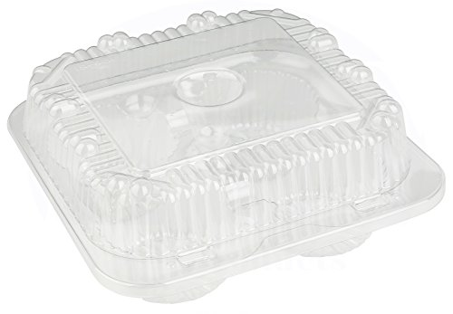 4 Compartment Hinged Clear Cupcake/Muffin Takeout Container by MT Products - (15 Pieces) by MT Products