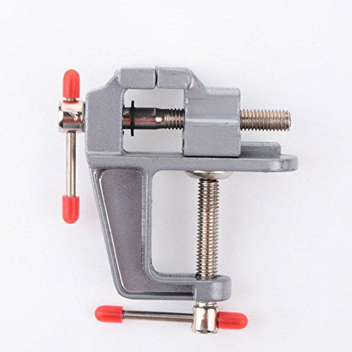 Shopline Mini Table Bench Vise, Work Bench Clamp Swivel Repair Tool for Hobby Craft Workmanship