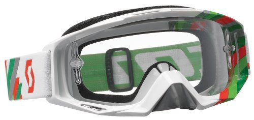 Scott Sports Tyrant Goggles with AFC Lens (Linear White, Green Frame/Clear Lens) by Scott (Clear Afc Lens)