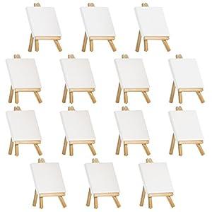 "Arteza 4""x4"" Mini Canvas & Easel (Set of 14)"